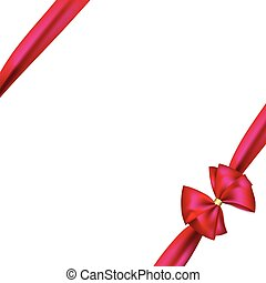 pink ribbon and bow background