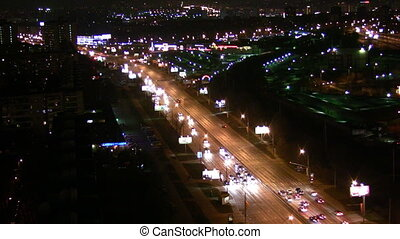 night cityscape. Time lapse - Night cityscape. Time lapse