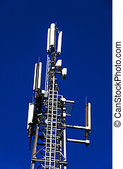 german mobilfunkmast - a transmission tower for cellular and...