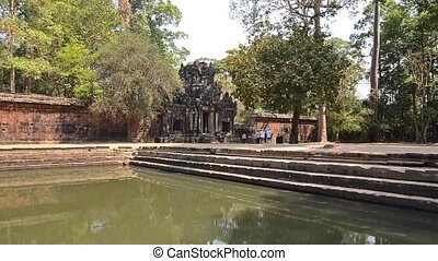 ancient temple in cambodia - famous cambodian temple