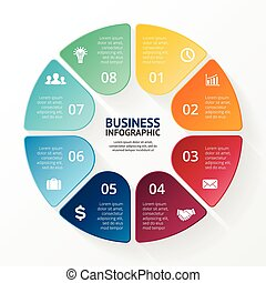 Infographic, diagram, 8 steps, options - Layout for your...