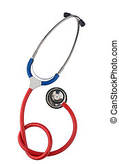 stethoscope against white background - a stethoscope lying...