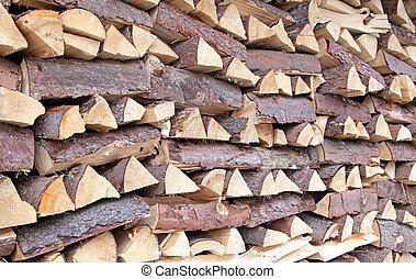 Wood chunks, Slovakia