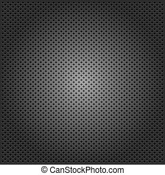 carbon corduroy grid black background. vector