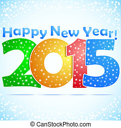 Happy New Year 2015 Background with snow.