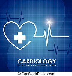 cardiology design - cardiology graphic design , vector...