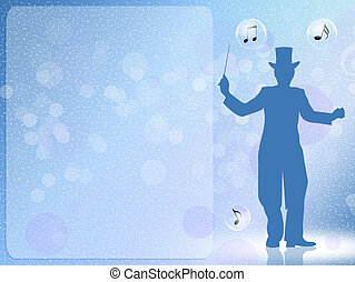 concert of Christmas - illustration of concert