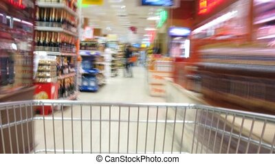 Pushcart goes to shop Time lapse