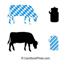 Bavarian milk cow