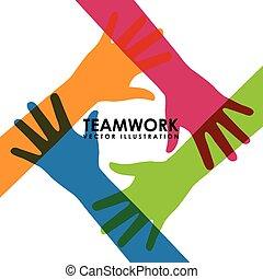 teamwork design - teamwork graphic design , vector...