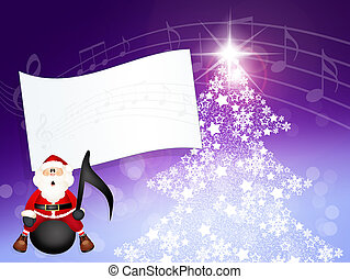 concert of Christmas - illustration of Christmas concert