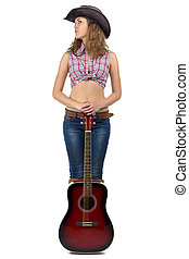 Image of pretty young cowgirl