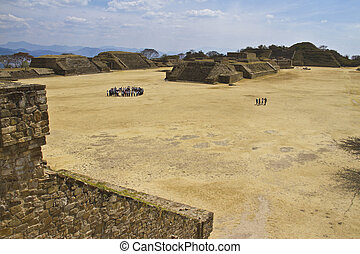 Monte Alban in Oaxaca, Mexico. Point of interest