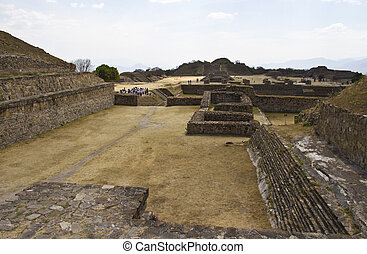 Pyramids of Monte Alban, Oaxaca, Mexico.