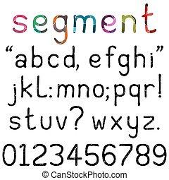 Handwritten Segment Font