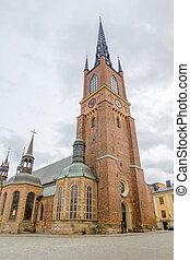 Riddarholmen Church tower at Stockholm, Sweden. Its the...