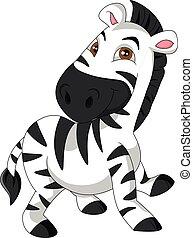 cute zebra cartoon - illustration of cute zebra cartoon