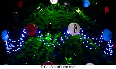 Green fir tree with ball