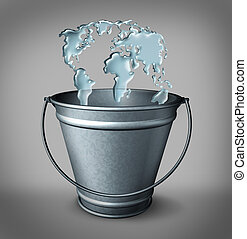 Global Water Concept - Global water concept as a group of...