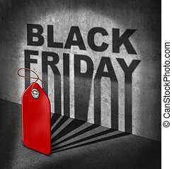 Black Friday Sale - Black friday sale concept as a red price...
