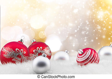 Abstract Christmas background, close-up