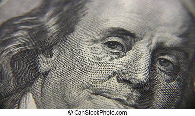 Person on dollar banknote, rotating