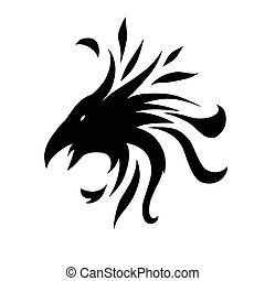 crow abstract - This is an abstract symbol of crow