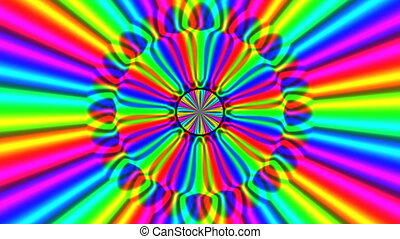 Rainbow waves seamless loop - Rainbow waves generated...