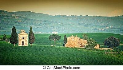 Capilla, en, Toscana,