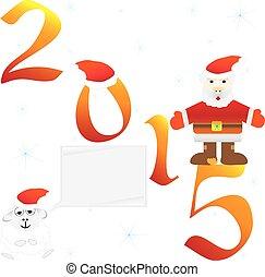 Santa Claus. 2015. Vector illustration.