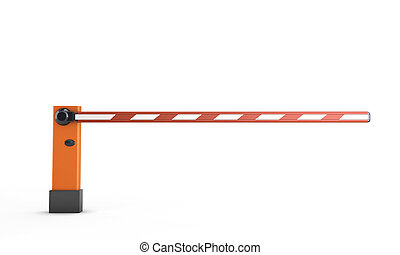 Barrier isolated on white background. 3d render image.