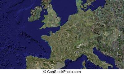 zoom to Paris on globe. Thanks NASA, Google. - Zoom to Paris...