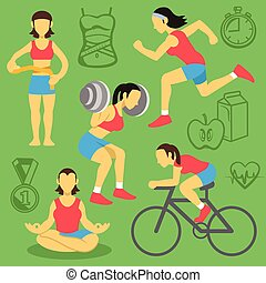 Vector women fitness