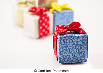 gifts for the holiday - gifts in colorful package isolated...