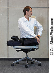 businessman in lotus pose - caucasian businessman in lotus...