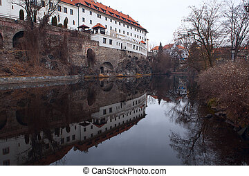 Jesuit dormitory in Cesky Krumlov. Czech republic - Old...