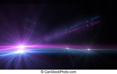 lens flare - star with lens flare and zig zag effect made in...