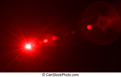optical flares - star with lens flare and zig zag effect...