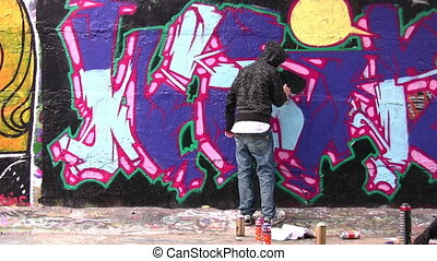 painter and graffiti