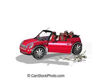 Skeleton Car Injury - Concept image of a skeleton...