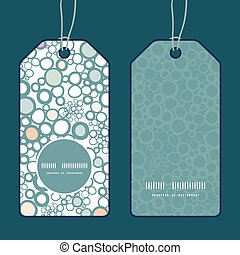 Vector colorful bubbles vertical round frame pattern tags...