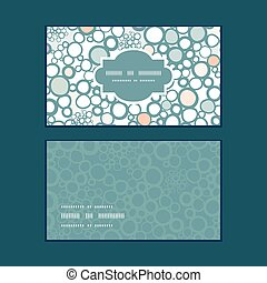 Vector colorful bubbles horizontal frame pattern business...