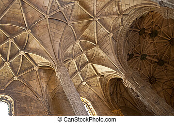 Santa Maria church ceiling - Ceiling of Santa maria church...