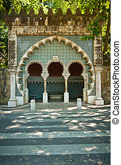 Moorish fountain in Sintra, Portugal