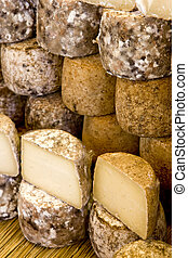cheese, street market in Castellane, Provence, France