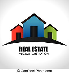 Real estate design over white background,vector illustration