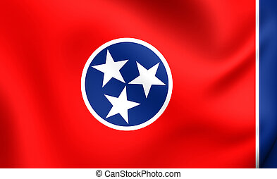 Flag of Tennessee, USA. Close Up.
