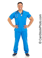 middle aged healthcare worker - portrait of happy middle...