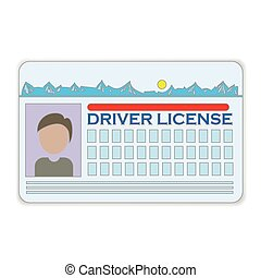 driver license - colorful illustration with driver license...