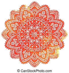 Beautiful vector watercolor floral Indian  ornament for your bus